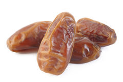 Dried dates isolated on white Royalty Free Stock Photo