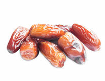 Dried Dates Isolated Stock Photo