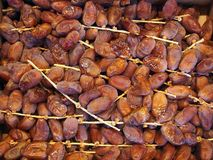 Dried Dates. From Israel, for sale at the central Athens markets, Greece Stock Photos