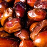 Dried dates ,macro shot , focus on a center