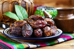 Dried dates in oriental style Royalty Free Stock Image