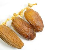 Dried dates Stock Images