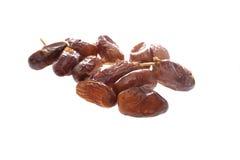 Dried dates (Phoenix dactylifera l) isolated on white background Stock Image