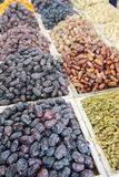 Dried dates sold at an Arabic market stall.  Stock Photo