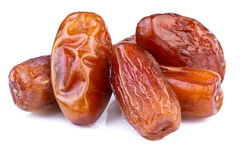 Dried dates on white background Royalty Free Stock Image