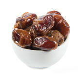 Dried dates in white cup Stock Photography