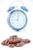 Dried dates (fruits of date palm Phoenix dactylifera). Royalty Free Stock Image