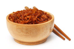 Dried dessert made of sliced carrot Royalty Free Stock Photos