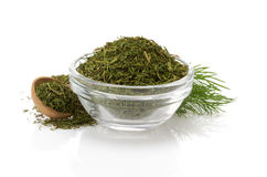 Dried  dill in bowl Royalty Free Stock Image