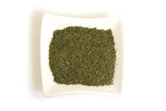 Dried Dill In Square White Bowl Royalty Free Stock Images