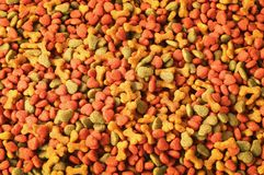 Dried dog food background stock photography