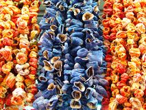 Dried eggplant, pepper and bell pepper royalty free stock photography