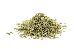 Dried the fennel seeds. On a white background Stock Image