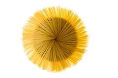 Dried fettuccine arranged in a flower effect Royalty Free Stock Image