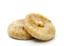 Dried Fig. Two Dried Fig Isolated on White Stock Photos