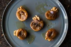 Dried Fig Dessert with Walnut / Cevizli incir tatlisi. Stock Images