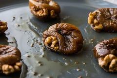 Dried Fig Dessert with Walnut / Cevizli incir tatlisi. Royalty Free Stock Images