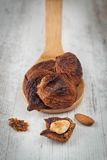 Dried fig fruit with almonds Stock Images