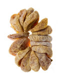 Dried fig fruit on white background Royalty Free Stock Photography