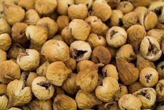 Dried figs. Close-uo of dried figs stock images