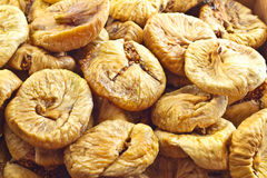 Dried Figs. Close-up of heap of dried figs Stock Photography
