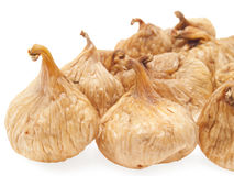 Dried figs. A few dried figs. On a white background Stock Images