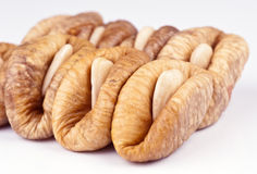 Dried figs. White almond stuffed Royalty Free Stock Photos