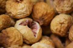 Dried figs. At the market stock images