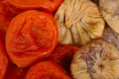 Dried figs and apricots Royalty Free Stock Photos