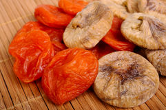 Dried figs and apricots Stock Image