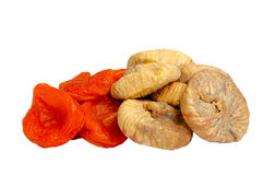 Dried figs and apricots Royalty Free Stock Images