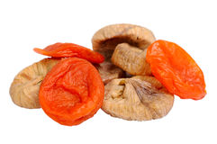 Dried figs and apricots Royalty Free Stock Image