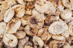 Dried figs as background texture royalty free stock images