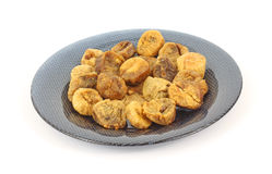 Dried Figs Blue Plate Royalty Free Stock Photo