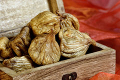 Dried figs in box Royalty Free Stock Image