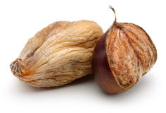 Dried figs and chestnut stock photo