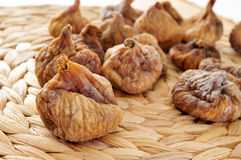 Dried figs. Closeup of a pile of dried figs Royalty Free Stock Photography
