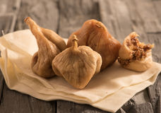 Dried figs on a cloth Royalty Free Stock Photos
