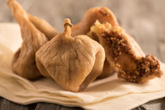 dried figs on a cloth Stock Photo