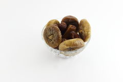 Dried Figs and date palm Stock Photography