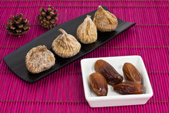 Dried figs and dates Royalty Free Stock Image
