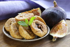Dried figs and fresh fruit Royalty Free Stock Image