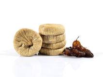 Dried figs and grapes Stock Photography