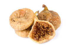 Dried figs isolated on white. Group of dried figs isolated on white background Stock Image