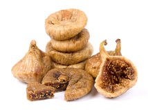 Dried figs isolated on white Royalty Free Stock Photography