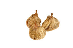 Dried figs isolated on white Royalty Free Stock Photo