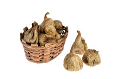 Dried figs isolated on white Stock Photo