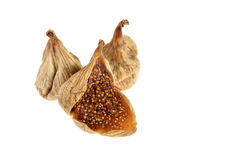 Dried figs isolated on white Royalty Free Stock Photos