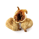Dried figs. Isolated on white background stock photos