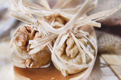 Dried figs and nuts Stock Image